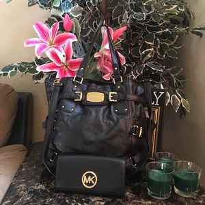 Michael Kors Black Gold Gansevoort Set